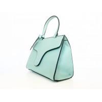 Зелена кожена чанта Bag to Bag