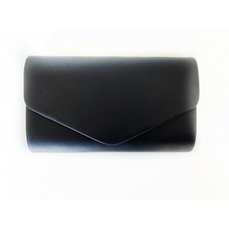 Коктейлна/бална дамска чанта в черен цвят