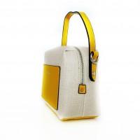 Чанта David Jones Paris с жълти детайли